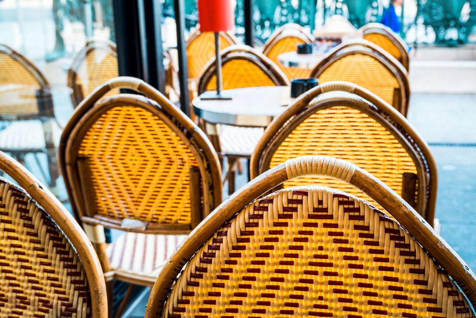 Beautiful stock photos of paris, Absence, Arrangement, Cafe, Chair