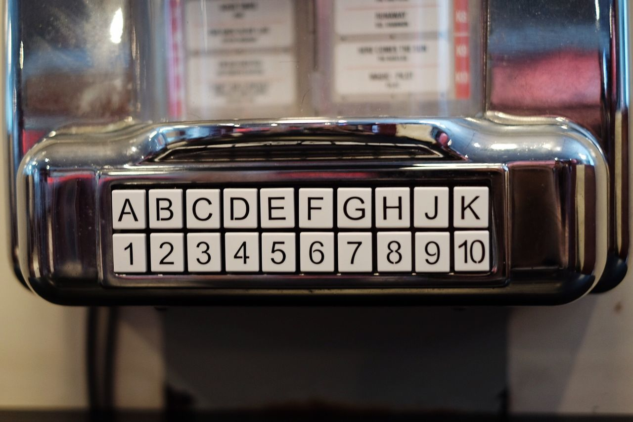 Text Old-fashioned No People Communication Close-up Day Outdoors Text Number Old-fashioned Retro Styled Antique Fujifilm_xseries Fujifilm FUJIFILM X-T10 Jukebox Music Music Box Miniature Technology Indoors  Metal