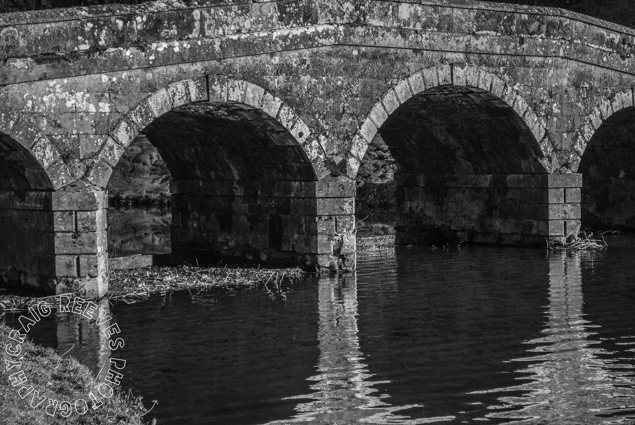 Bridge Water Lake B&w Photography Brick Work Arches