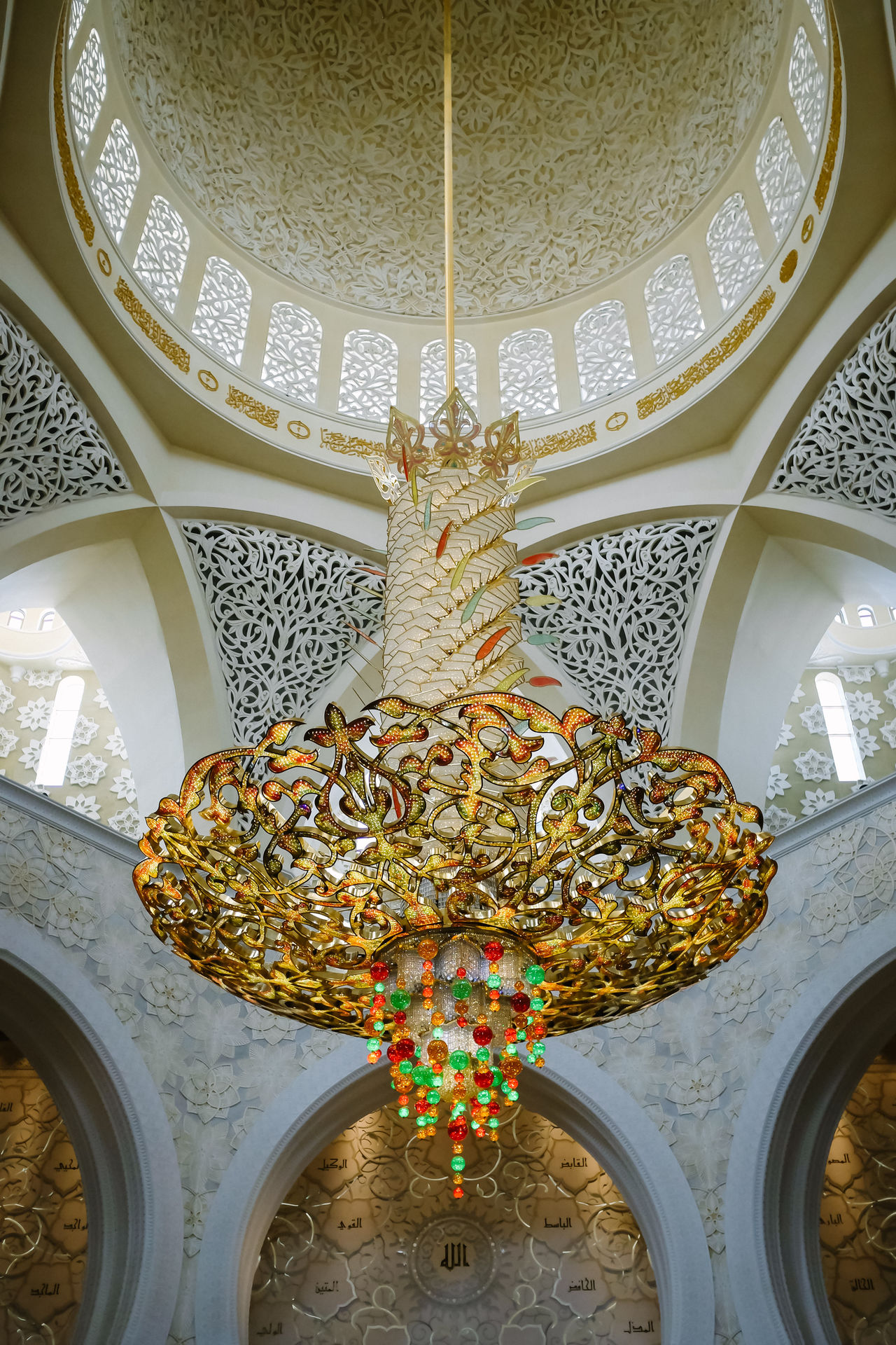 Abu Dhabi Abudhabi Allah Chandelier Dubai Grand Mosque Islam Mosque Pool Praise Pray Prayer Quran UAE Worship