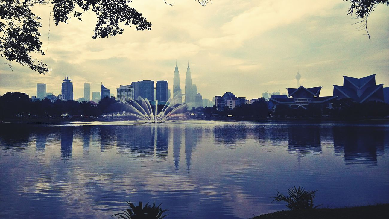 I Love My City Lake View Klcity City Reflection Kuala Lumpur Water Reflection First Eyeem Photo