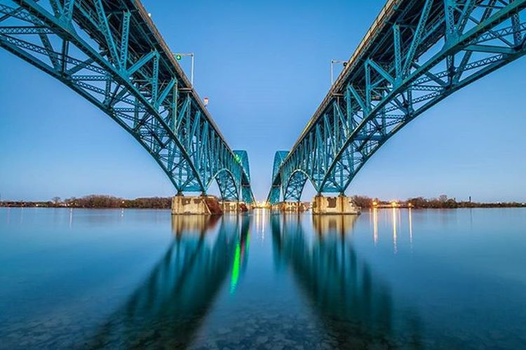 Not sure I ever shared this with the full landscape crop. Just got off the phone about an article about the photo in a local newspaper! Grandisland Buffalo Buffalony Buffalove Onebuffalo Longexposure Architecture Water Reflection Mirror Photooftheday POTD Bridge Bridges