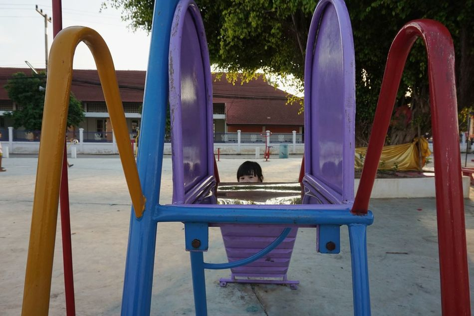 Childhood Outdoor Play Equipment People Outdoors Nature One Person Day Adult EyeEmNewHere Thailand