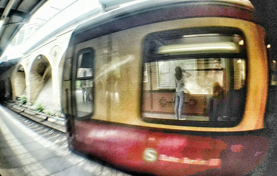 Check This Out Vintage Need For Speed Taking Photos Sbahn Germany Girl Reflection Fisheye Sbahnhof Schönhauserallee
