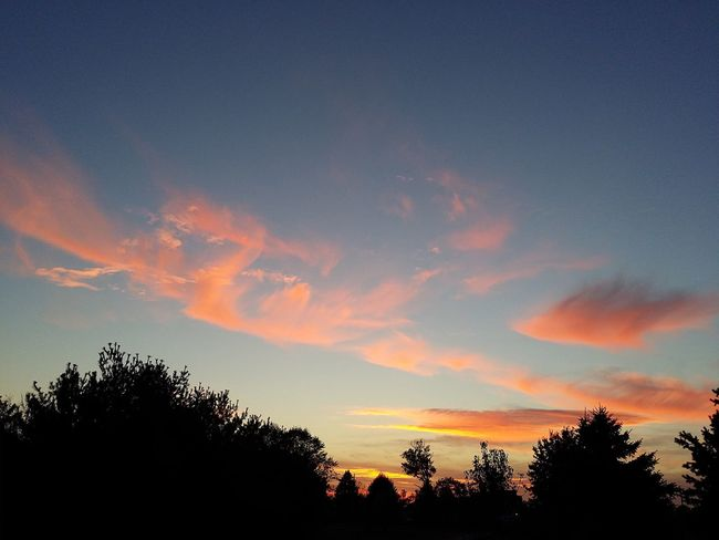 Sunset Cloud - Sky Thankful For Another Day Only God Can Create Such Beauty Silhouette