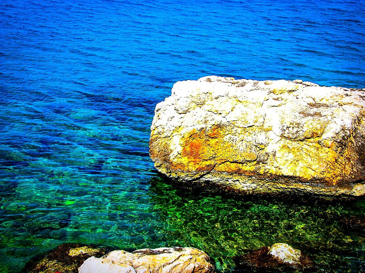 rock - object, blue, water, sea, nature, beauty in nature, no people, outdoors, tranquility, day, scenics, close-up