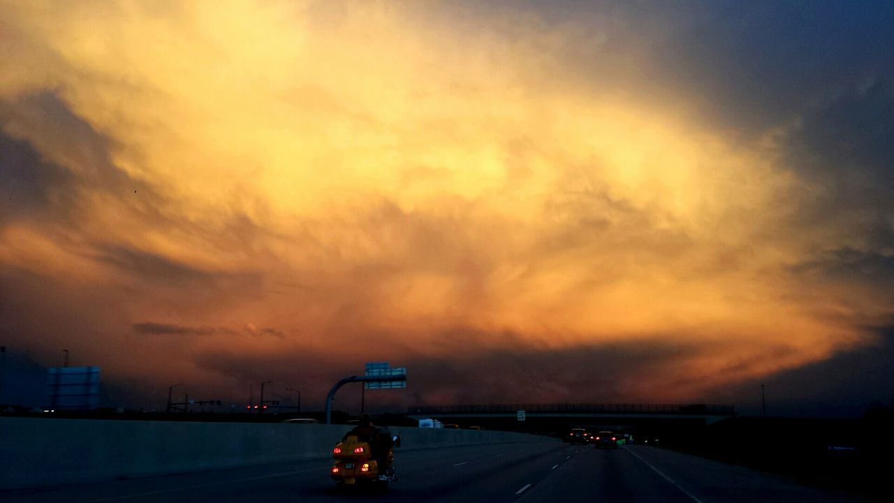 43 Golden Moments Transportation The Drive Home Interstate25 Sundown Sky And Clouds Golden Hour Golden Colour Of Life