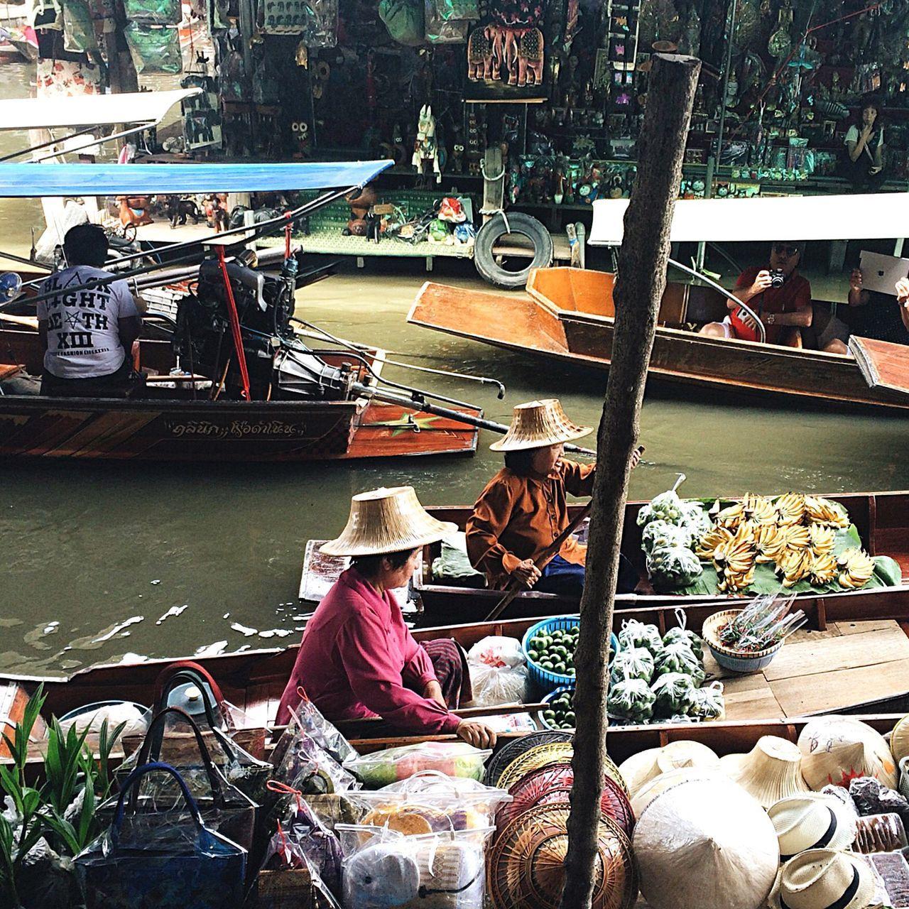 Boat Wanderlust Southeast Asia Travel Thailand Floating Market Dumnoen Saduak Floating Market Market Bargain Bangkok Market Vendor