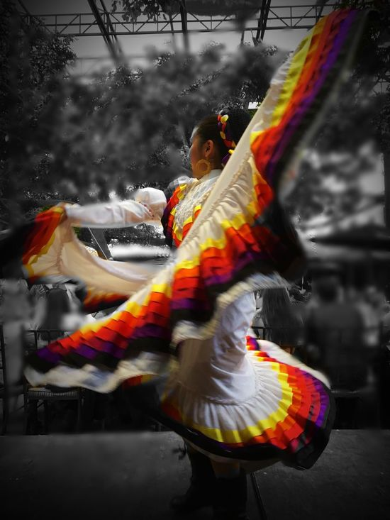 Cultures Traditional Clothing Blurred Motion Dancing Dancer Motion Lifestyles Arts Culture And Entertainment Performance Tradition Traditional Festival Traditional Dancing Outdoors Performing Arts Event Real People One Person Day People Traditional Culture Mexico Woman MexicanTradition Eye4photography  EyeEm Gallery EyeEm Best Shots