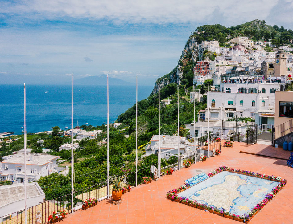 View of Capri, Marina Grande, Naples Architecture Bay Of Water Building Exterior Built Structure Capri Cityscape Day High Angle View Horizon Over Water Naples, Italy Nature No People Outdoors Scenics Sea Sky Swimming Pool Water