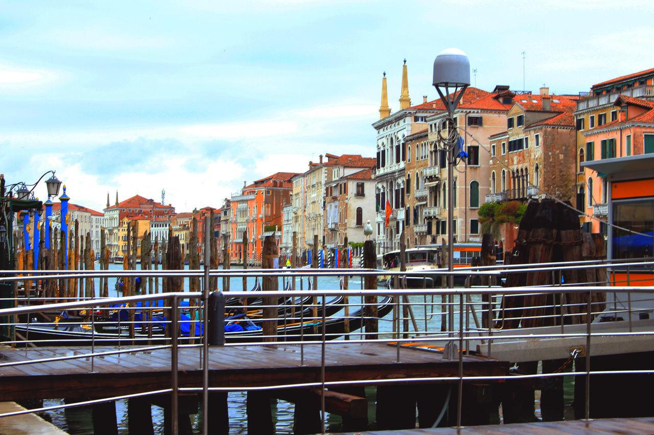 Architecture Blue Building Canal Canals City City Life Cloud Cloud - Sky Colorful Contrast Italy Outdoors Rich Colors Sky Travel Destinations Venezia Venice