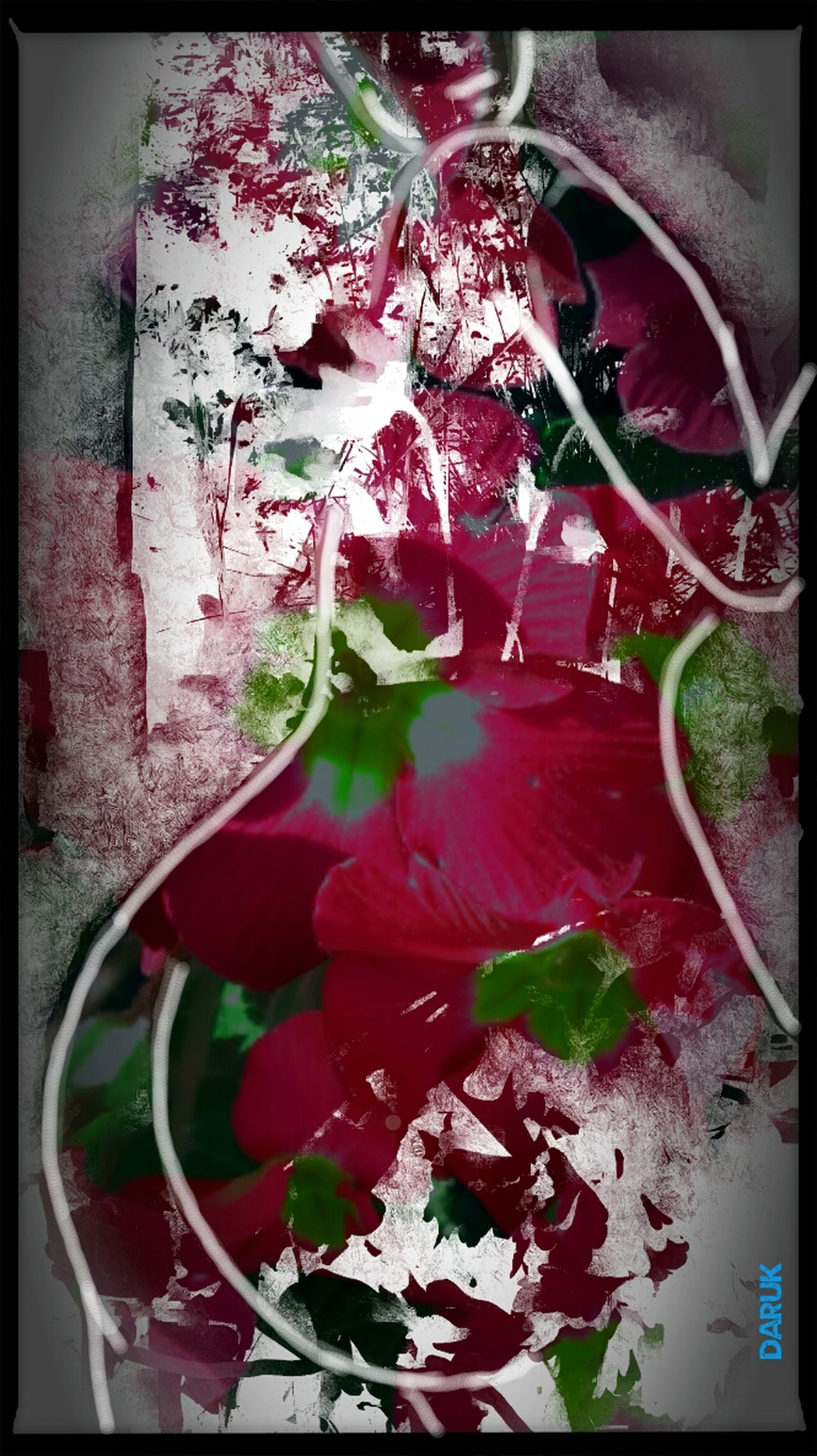 transfer print, flower, auto post production filter, plant, freshness, fragility, potted plant, pink color, growth, petal, leaf, flower head, close-up, nature, indoors, vase, beauty in nature, in bloom, flower pot, blooming