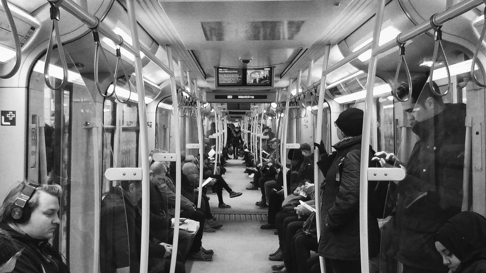 Berlin Underground Travel Transportation Public Transportation Train - Vehicle Subway Train Large Group Of People Work Path Adapted To The City