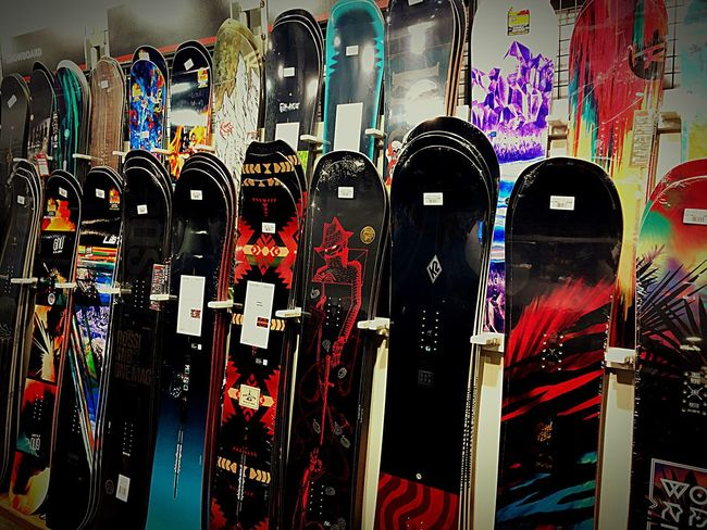In A Row Close-up Multi Colored Large Group Of Objects Variation Repetition Order Choice Creativity Abundance Collection Arrangement No People Snowboard Shopping ♡