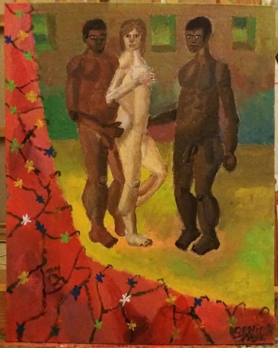 """Der fantasie Hausfrauen"" by Deniss Re Art Concept ArtWork Acrylics Paint Acrylicpainting  Human"