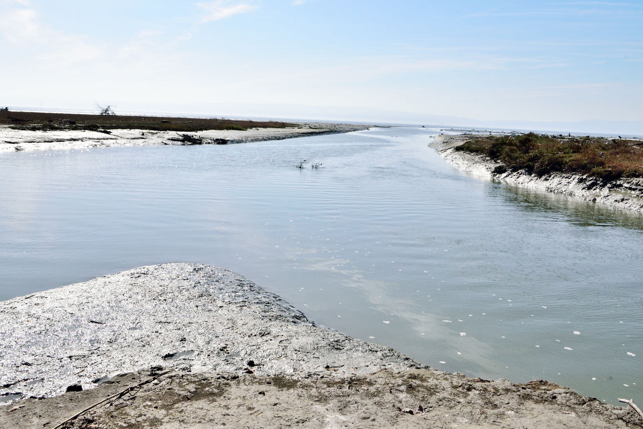 The Tide Rolls In 2 Hayward, Ca. Shore Low Tide Mudflats Water Channels Inlets Banks Returning Tide Nature Beauty In Nature Nature_collection Horizon Over Water Scenics Lanscape Photography Landscape_Collection Water Flowing Landscape_lovers Landscape