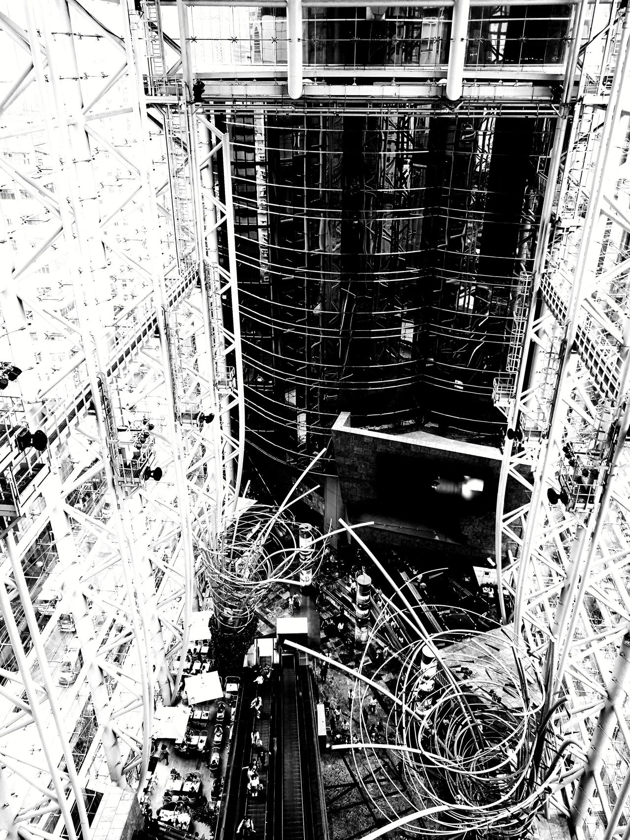 Black And White Architecture Backgrounds Indoors  Close-up Travel Destinations Built Structure Vacation Destination Shopping ♡ Full Frame Day No People HongKong Langham_Place View From The Top The Street Photographer - 2017 EyeEm Awards The Architect - 2017 EyeEm Awards