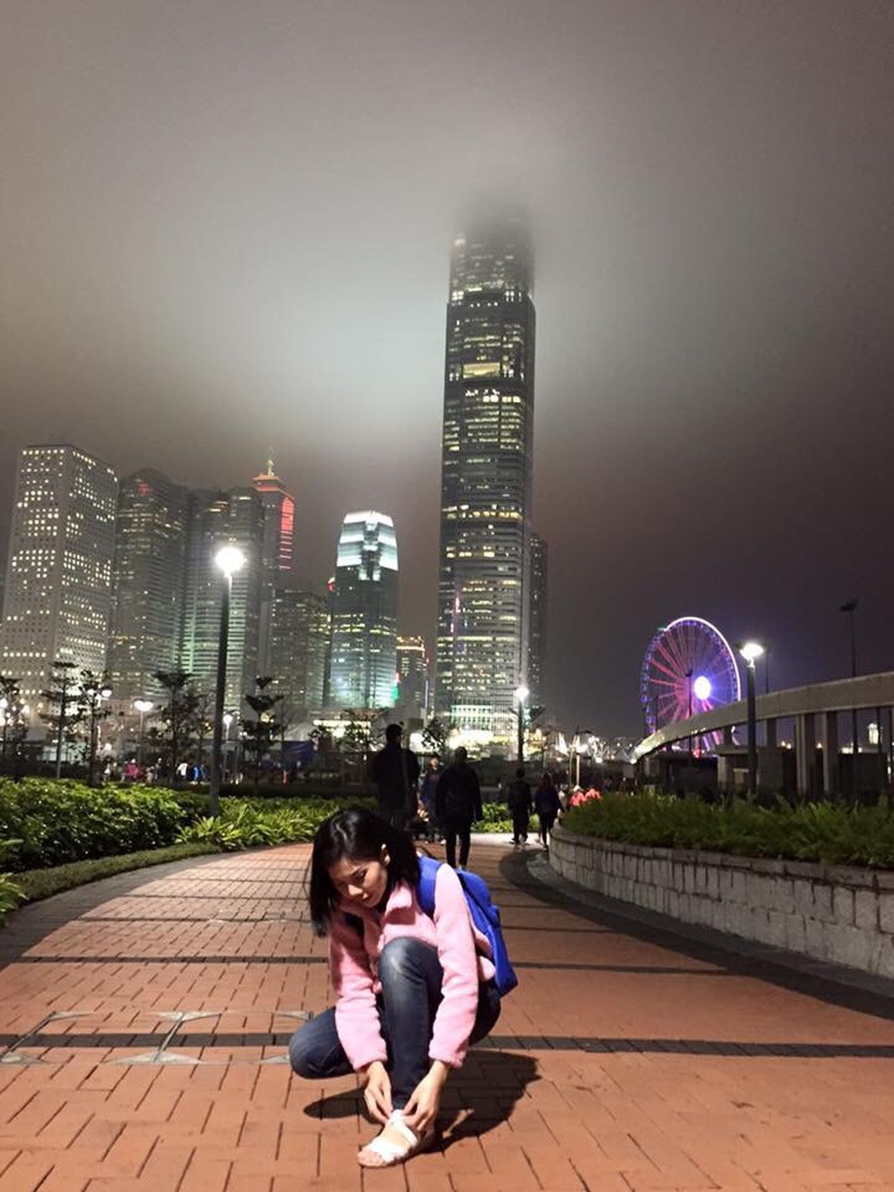 Inthecity  HongKong Tonight Foggy Night Hongkong Island Alone Sosad Justme Travel Eyemthailand