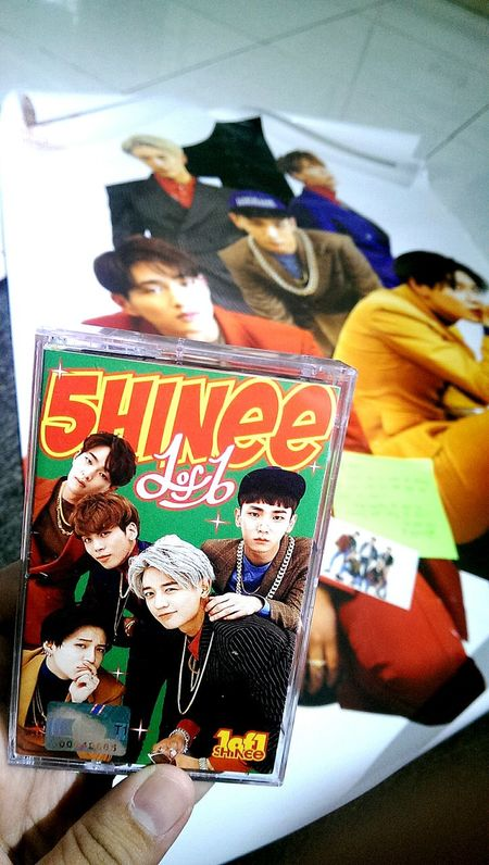 My baby traveled from Korea to Philippines. It arrived safe and sound. Shinee 1of1 Limited Edition Cassette Tape 2016 Limited Edition Cassette Tape Amazed Music Kpop TakeoverMusic Uniqueness