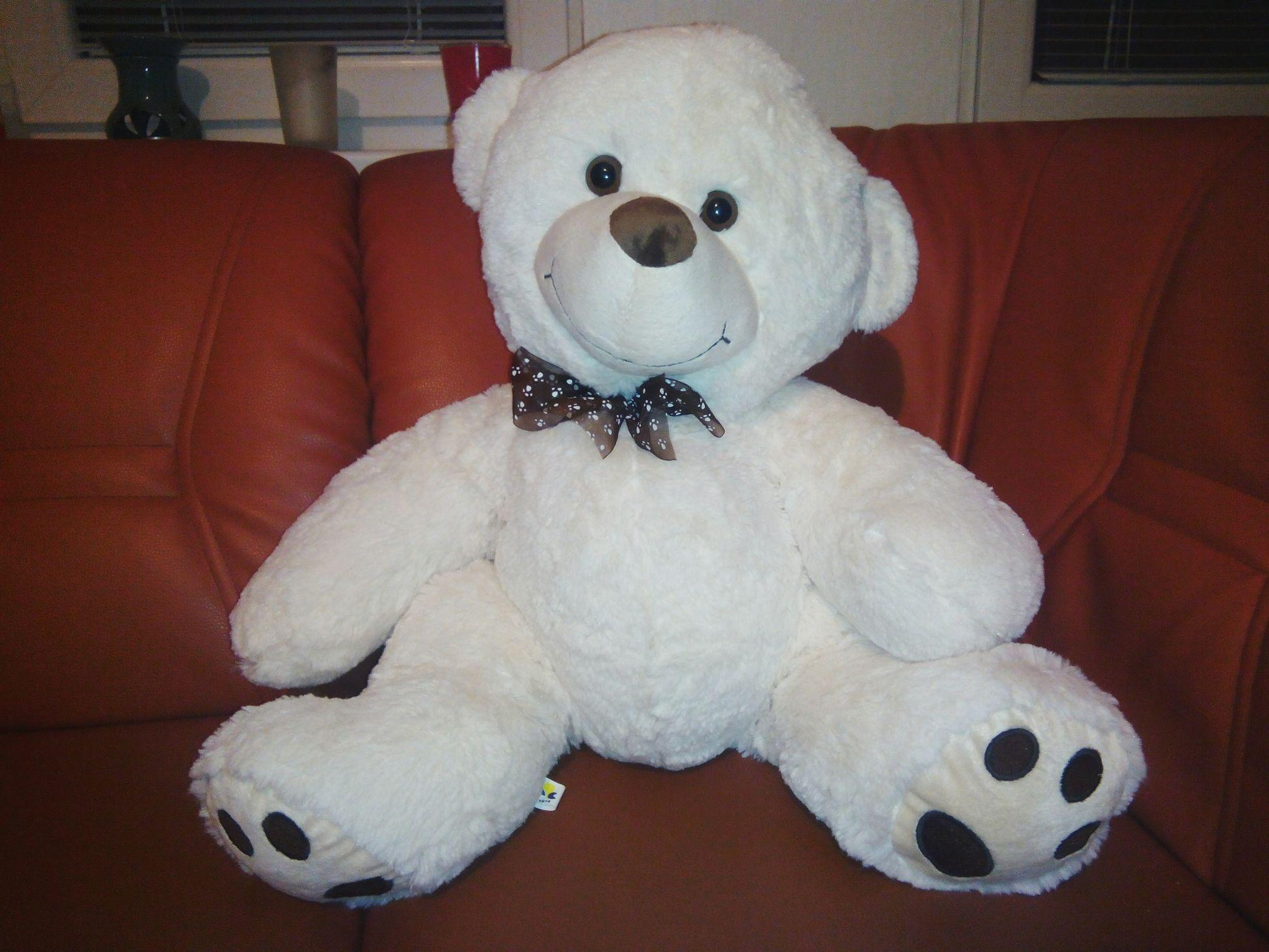 Christmas Present From My Boyfriend ♥ Thank You ♡♡♡ Teddybear White Cute♡