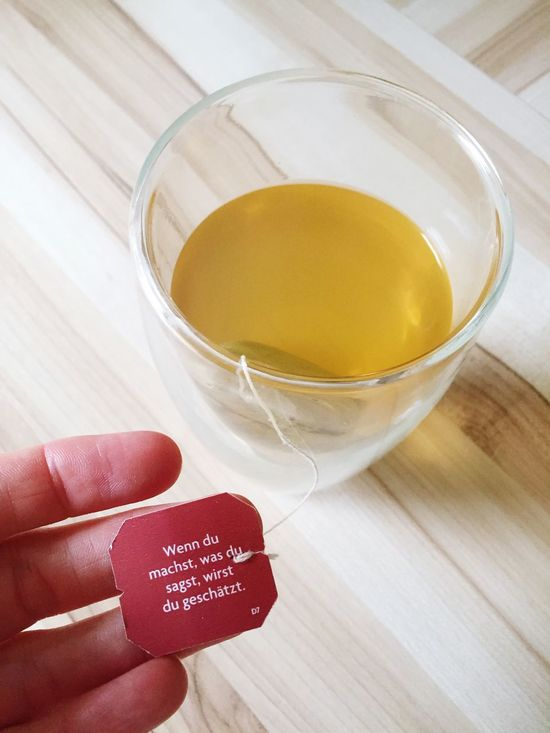 Ich trinke Tee Tee Teetime