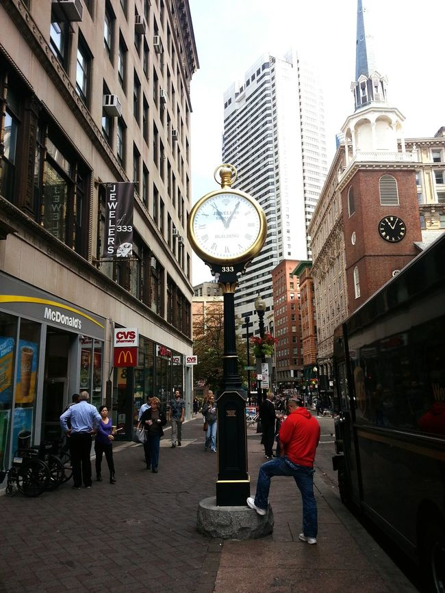 Downtown Boston Oldclock Building Peopleinthestreet Around Town Outdoor Photography People In The Streets