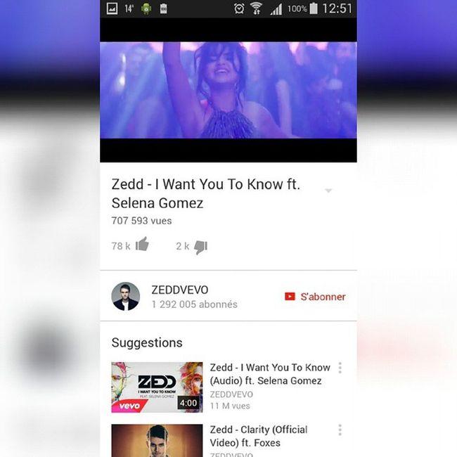 Iwantyoutoknow Selenagomez Zedd 🎵🎵👌