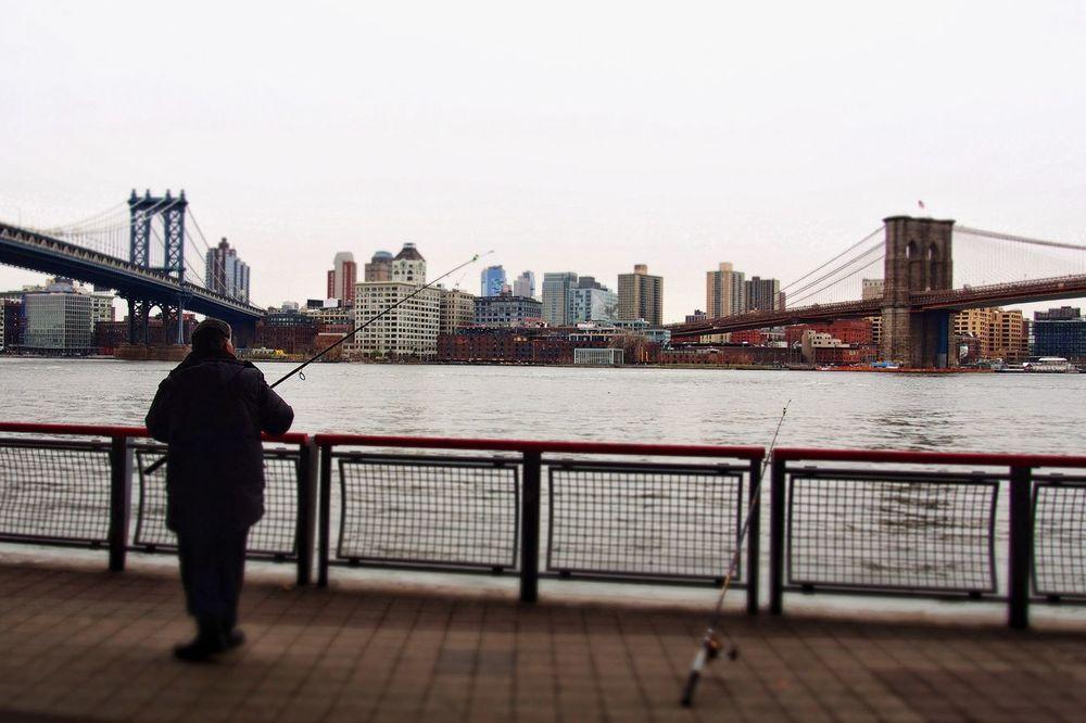 Urban Exploration, NYC Photography People Watching Urban Landscape Brooklyn Bridge,