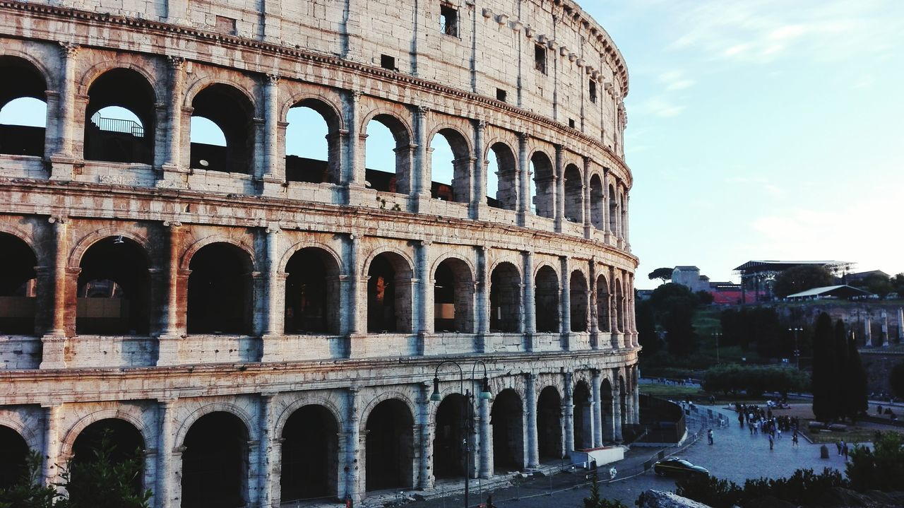 Ancient Arts Culture And Entertainment Tourism History Sky Building Exterior Ancient Civilization Architecture Built Structure The Past Old Ruin Arch Travel Destinations Architectural Column Outdoors Day No People colosseum First Eyeem Photo