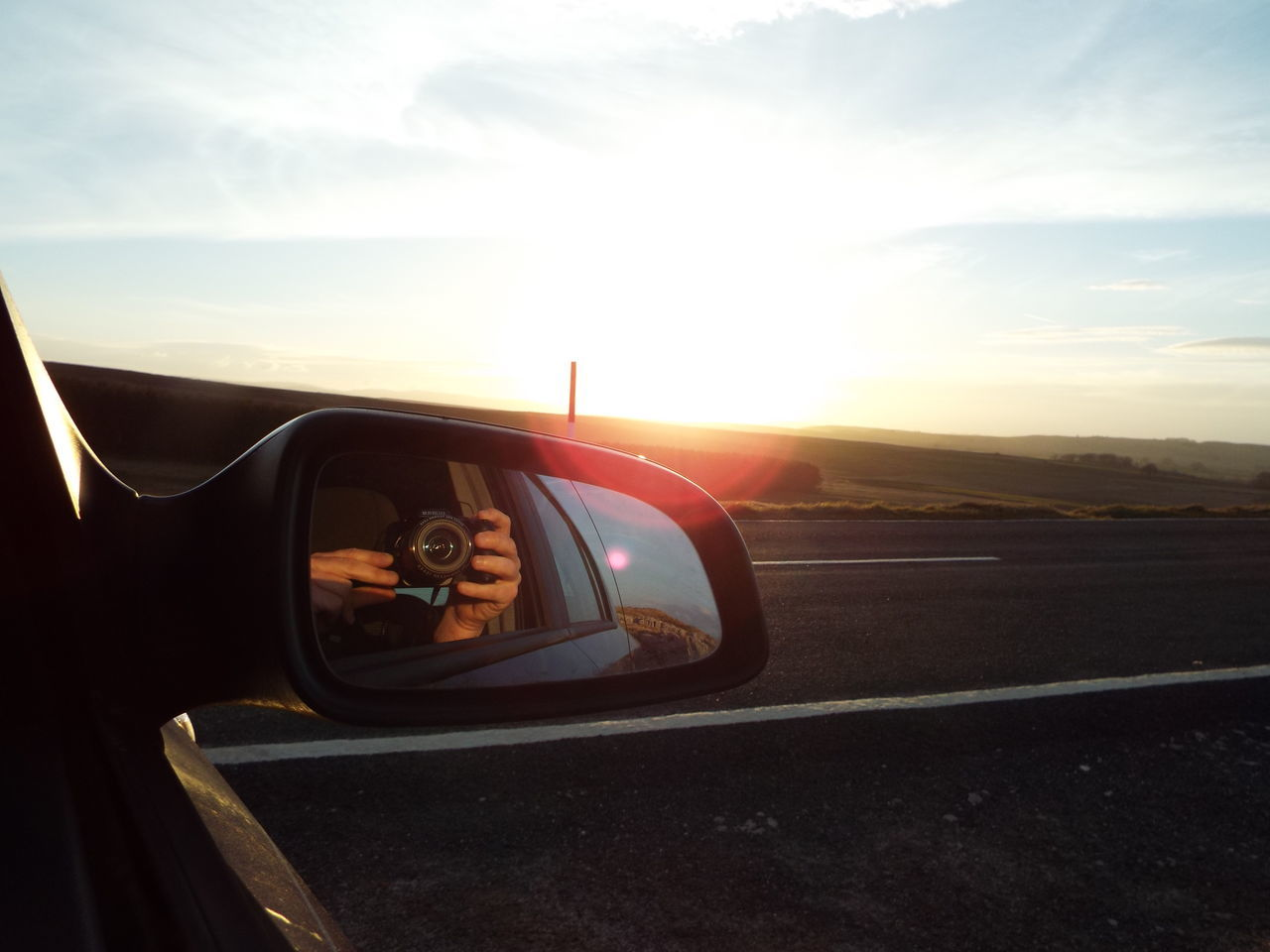 Taking Photos Of People Taking Photos Taking Photo Of Me Taking A Photo That's Me Moorland Sunset Wing Mirror  Wingmirror Finding New Frontiers