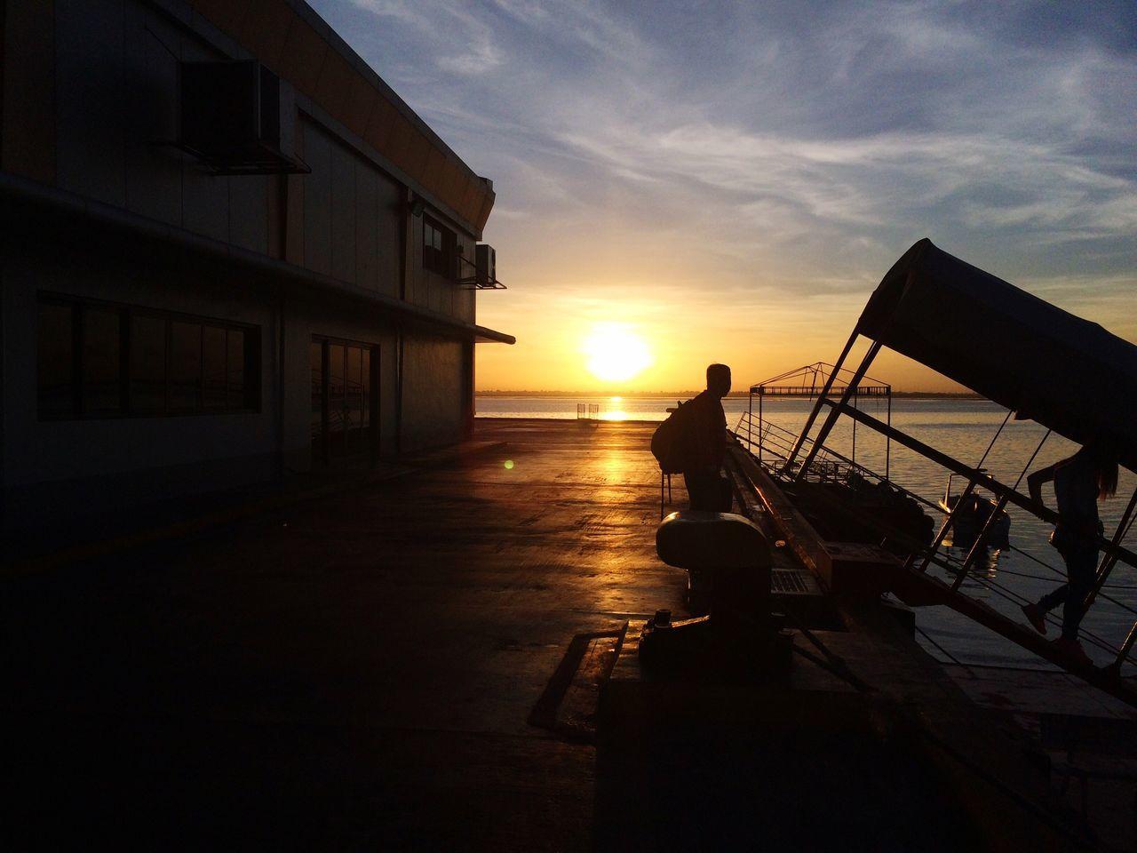 Sunrise Port Of Cebu Fastcraft Barge Leaving Vacation Bohol Summer End Of Summer Docking Bay People And Places