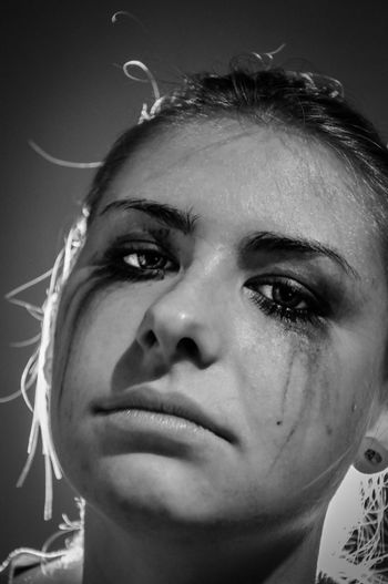 Black Background Blackandwhite Close-up Cry Day Drained Drained Makeup Headshot Human Human Body Part Human Face Indoors  Lonely Makeup One Person People Portrait Real People Sad Sadness Smink  Studio Shot Young Adult Young Women