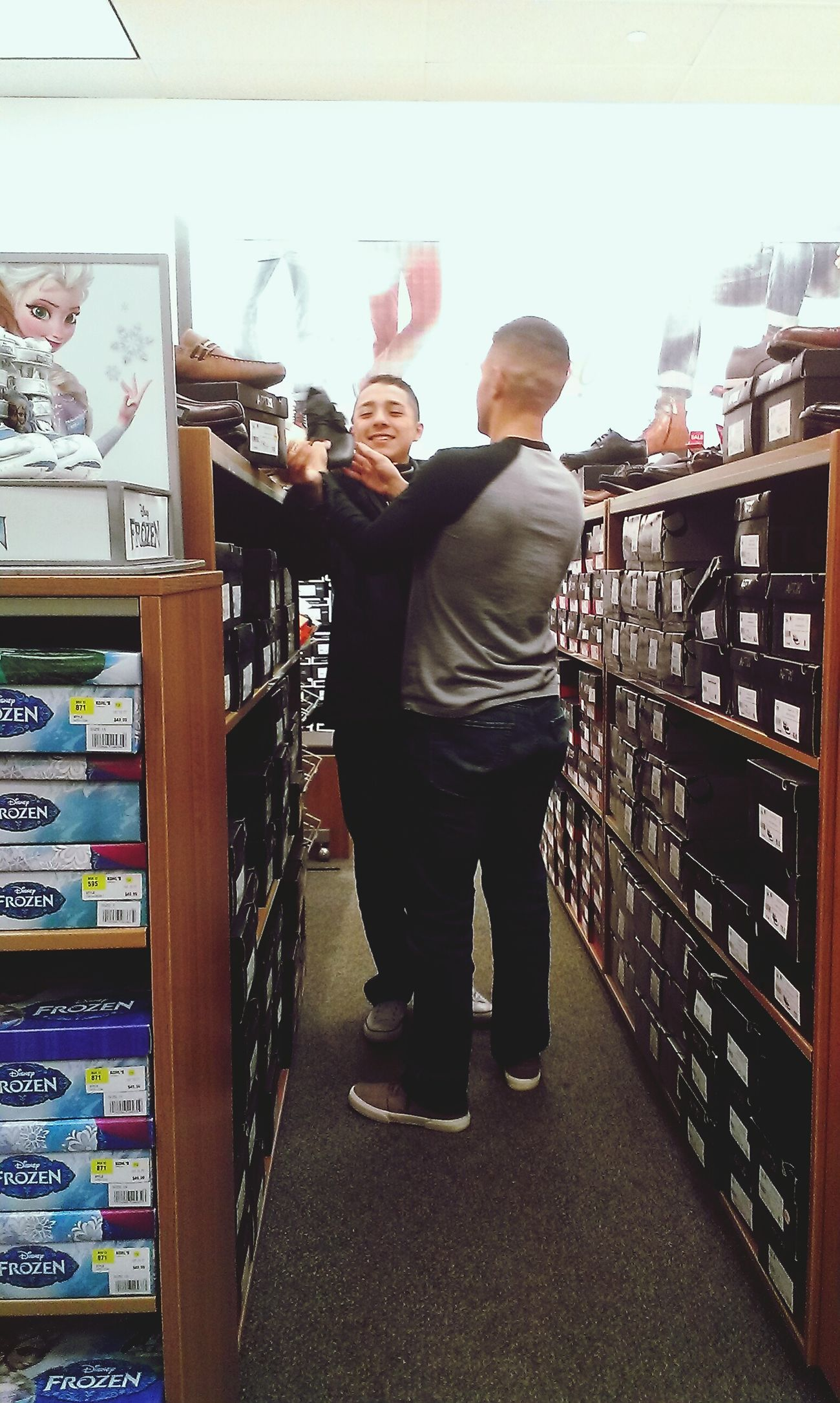 """Dude! You should get these!"" ""Bruh, and they're super cheap!"" New Shoes Bromance Brothers Humor Funny New Year New You"