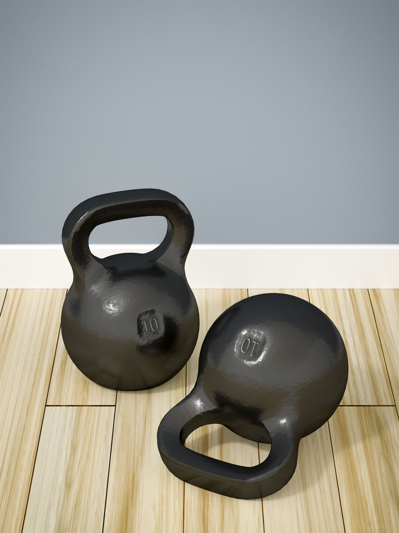 kettlebells Floor Get Fit  Indoors  Kettlebells No People Sports Wall Weights Wooden