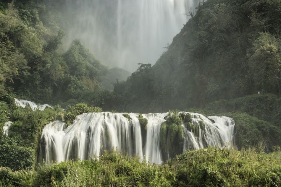 Beautiful stock photos of waterfall, Beauty In Nature, Day, Forest, Growth