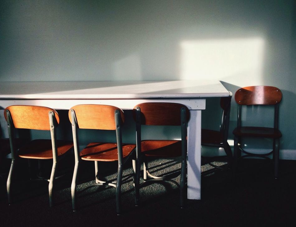 Beautiful stock photos of school, chair, indoors, no people, seat