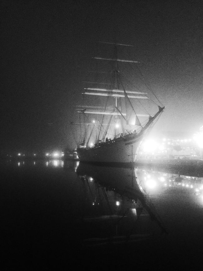 Statsraad Lehmkuhl, Royal Norwegian Naval Academy tall ship visiting Baltimore From My Point Of View EyeEm Best Shots - Black + White Bw_collection Monochrome Architecture Streetphotography Taking Photos Blackandwhite