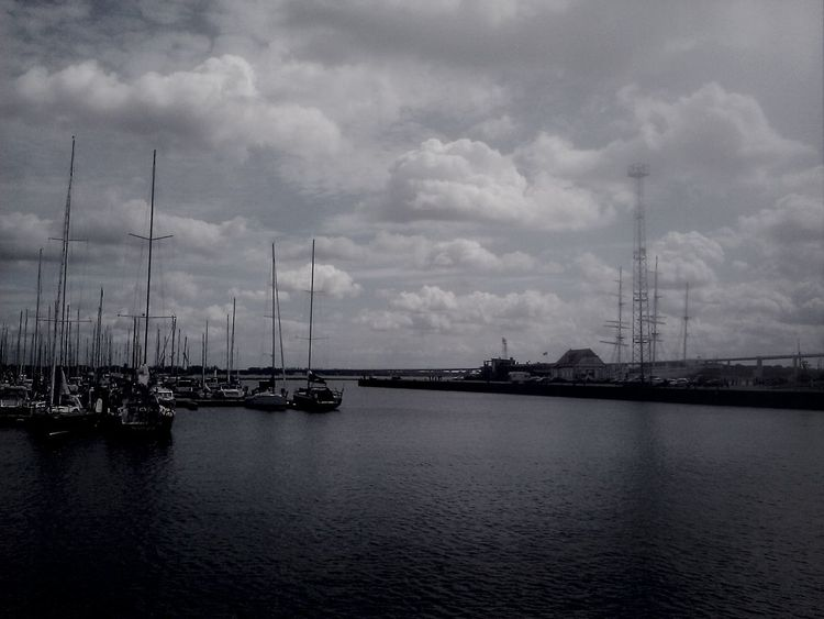 Stralsund  Black & White Clouds And Sky Harbour