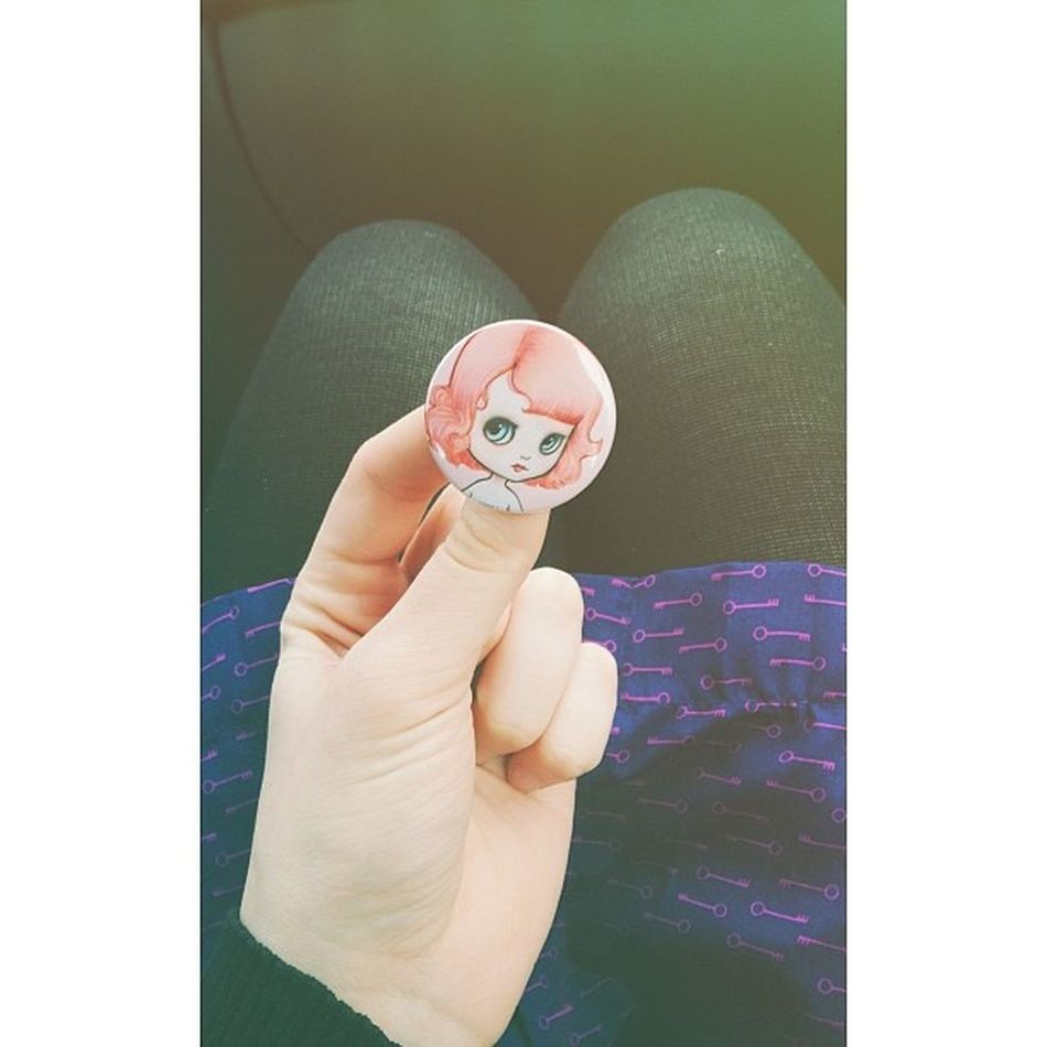 Adorable little MabGraves pin from her book signing today. @lanecat
