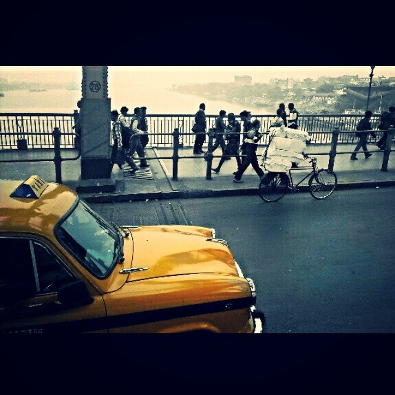Kolkata Howrah Yellow Taxi CityOfSweets Picoftheday Pictureoftheday De3p Android Photography HTC