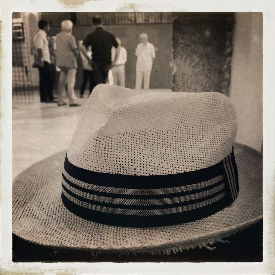 Hat Indoors  Monochrome Panamahat Person