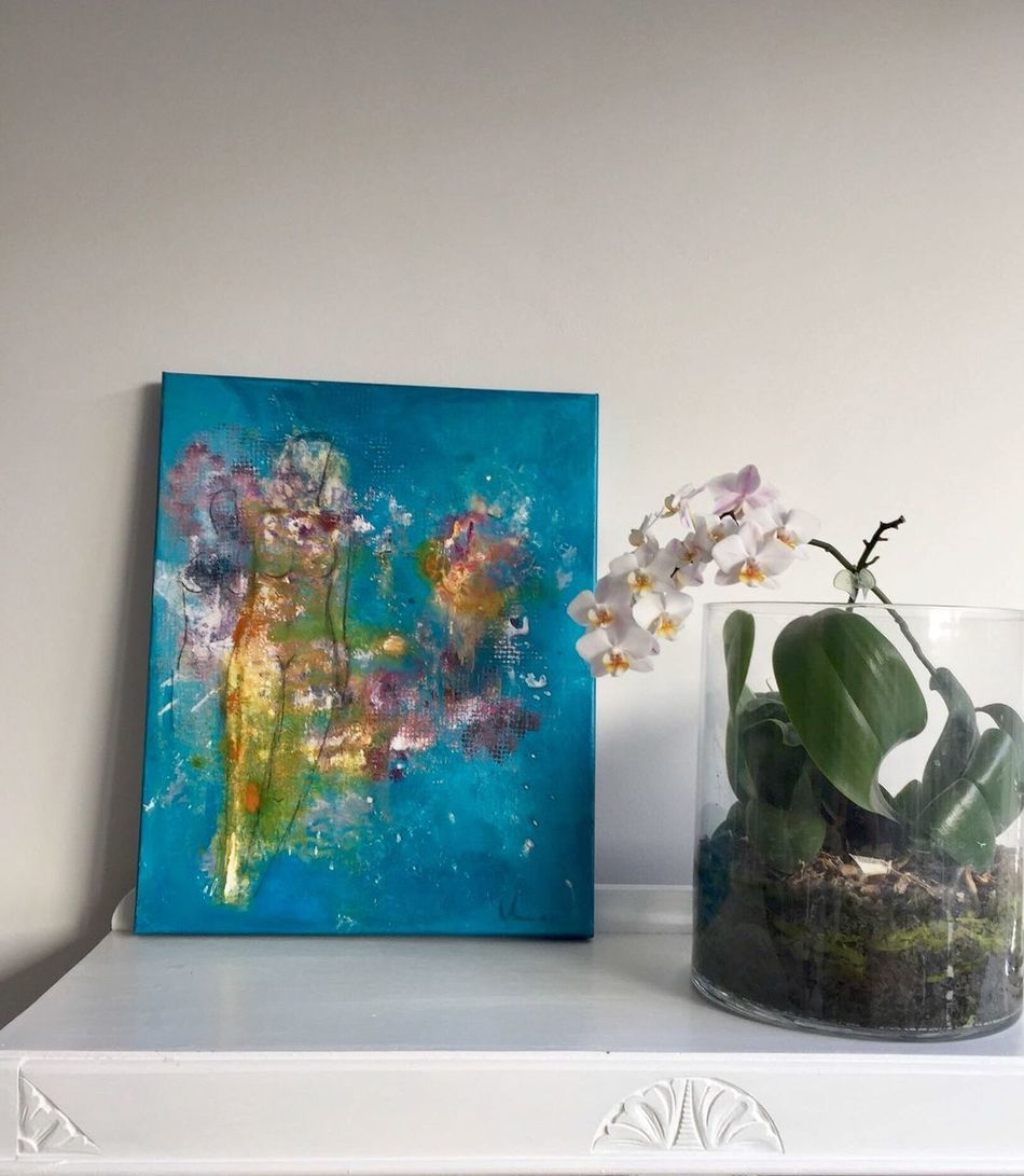 Home Interior Art ArtWork Interior Abstract Art Acrylic Painting Interior Design No People White Background