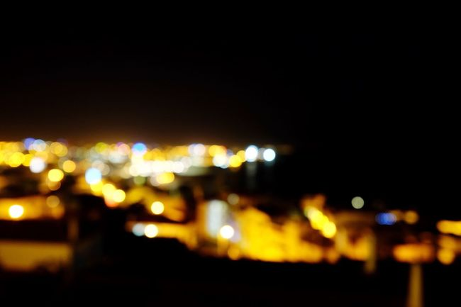 Blurred Skyline Cityscape Night Lights City Lights Resort