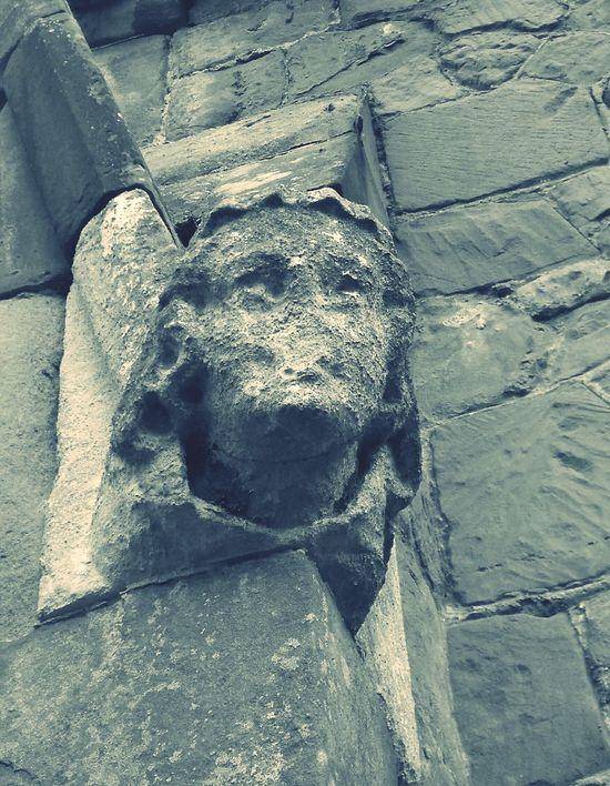 Gargoyle Gothic Beauty  Silenced Weathered Stone Old Church Churchyard Graveyard Collection Weathered Stone Face Melancholy