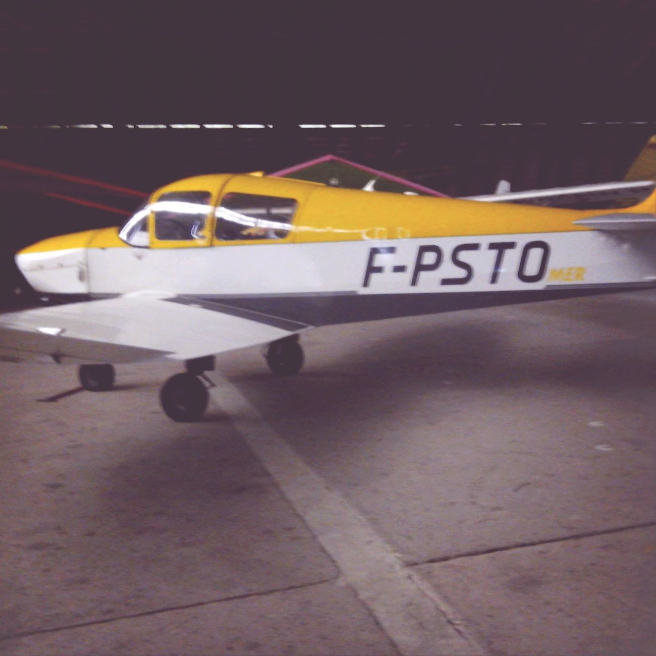 Jodel D113T Flight Plane White And Yellow