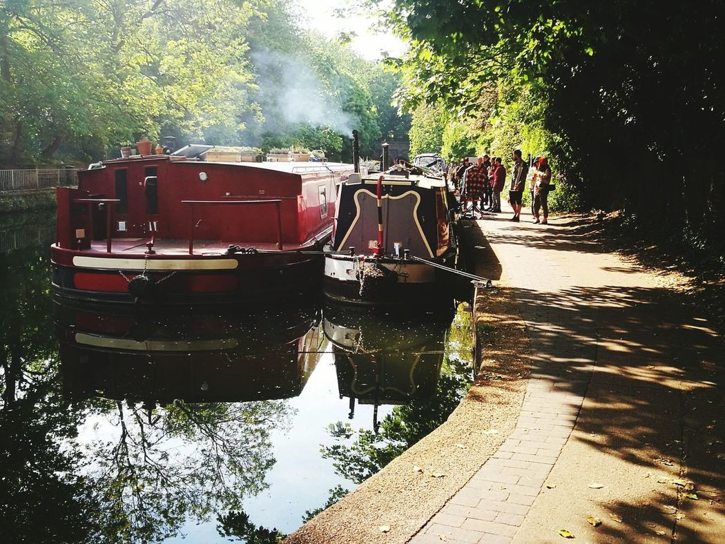 Canal Water Reflection Day Tree Outdoors Shadow No People Nature Sky Canals And Waterways Canal Boats