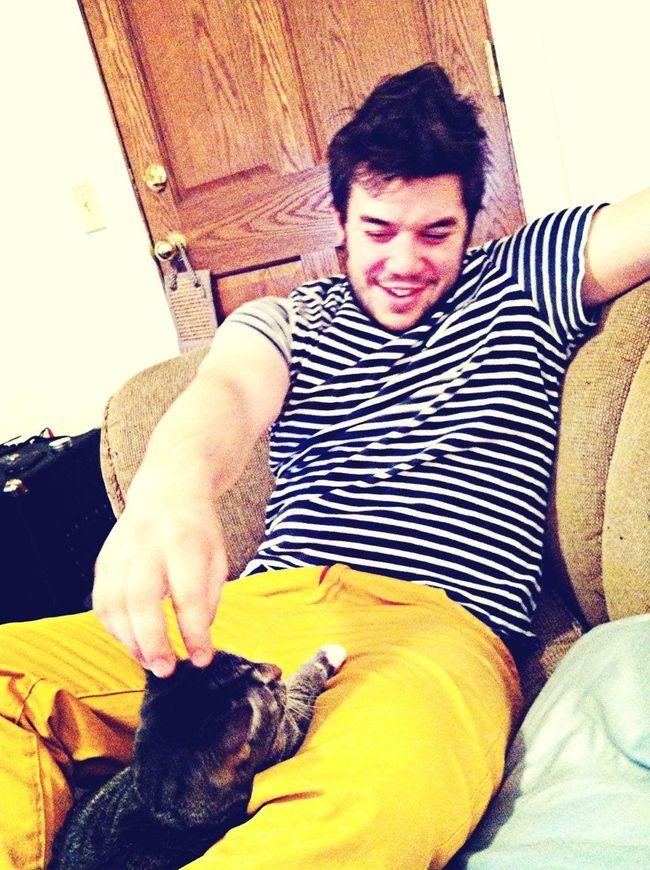 Playin with my cat, Napkin