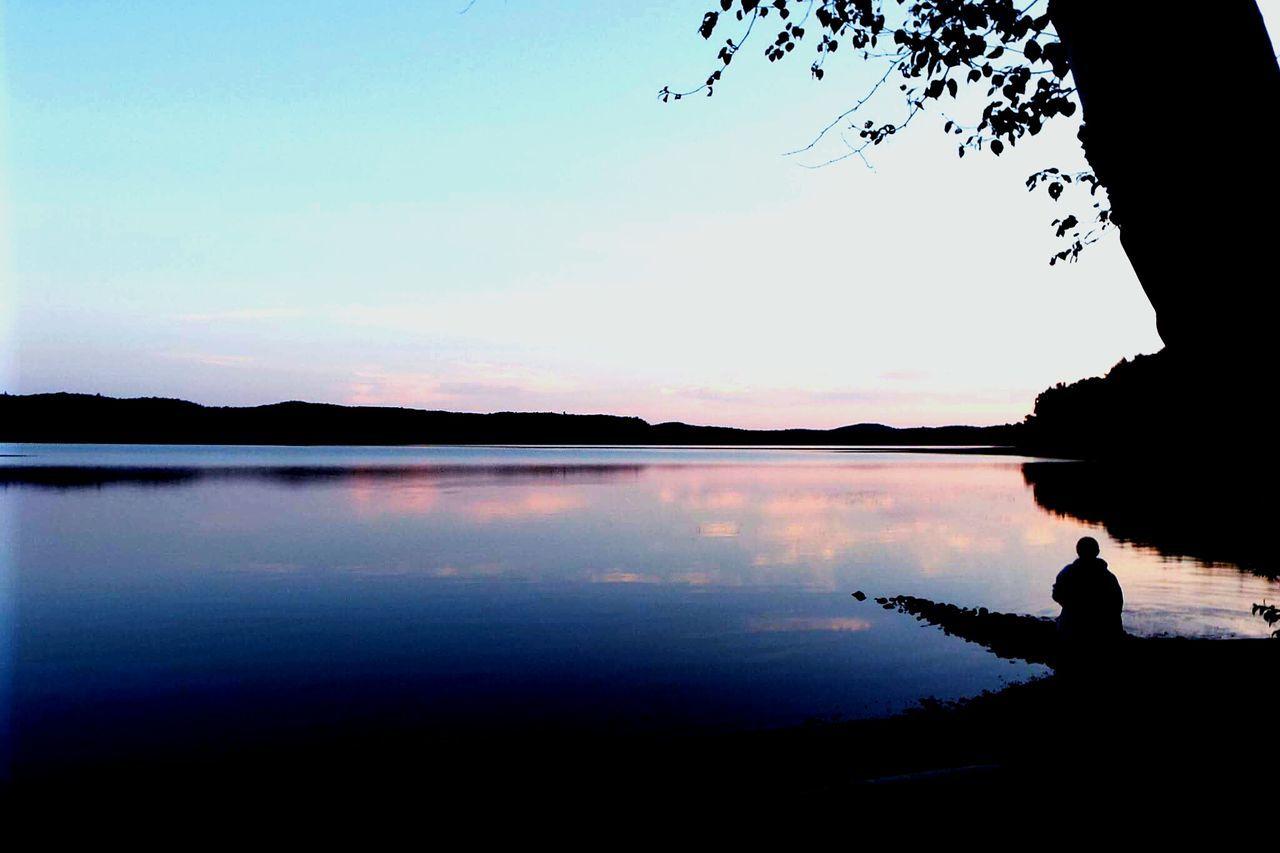Silhouette Lake Water Algonquin Park Algonquinprovincialpark Nature Peace Peace And Quiet
