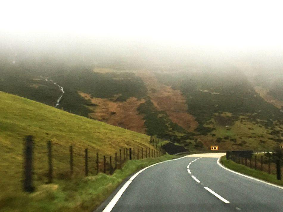 Mist Empty roads
