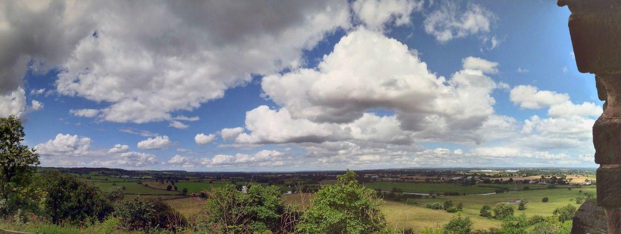 Cloud - Sky Sky Nature Scenics Outdoors Landscape Day Beauty In Nature No People EyeEmNewHere Dramatic Sky Panoramic Tutbury Tutbury Castle Derbyshire